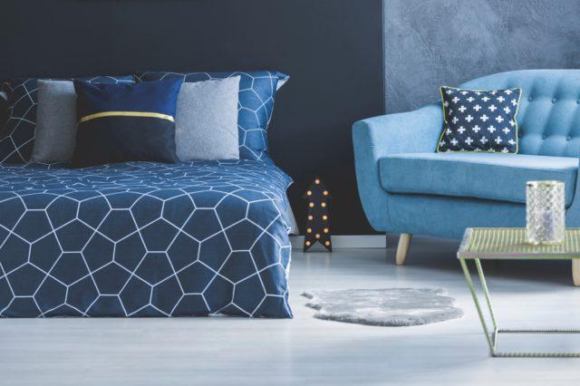 donkerblauw slaapkamer