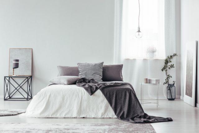 grijs witte slaapkamer