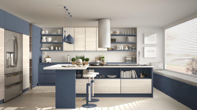 interieur donkerblauw keuken