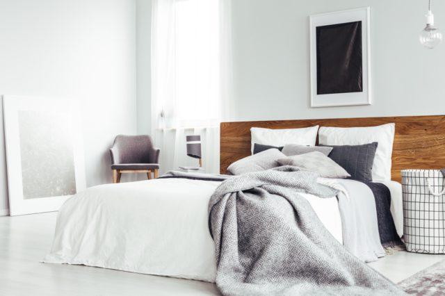 slaapkamer hout en wit
