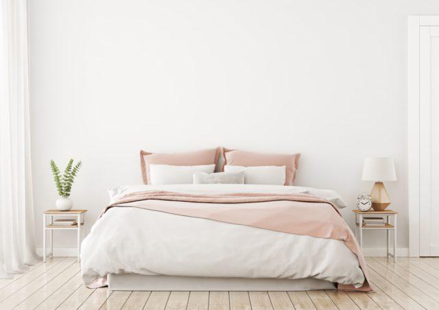 slaapkamer wit roze