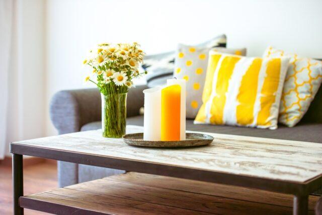 Gezelligheid in huis met hout