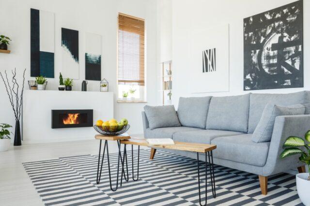 gestreept tapijt