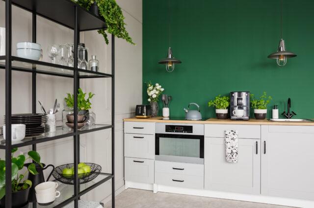 groene muur keuken