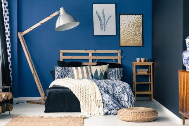 blauw in slaapkamer