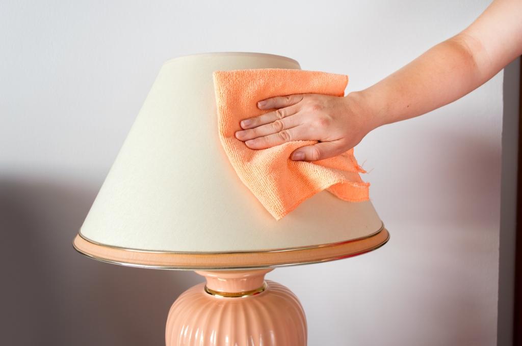 lampenkap schoonmaken