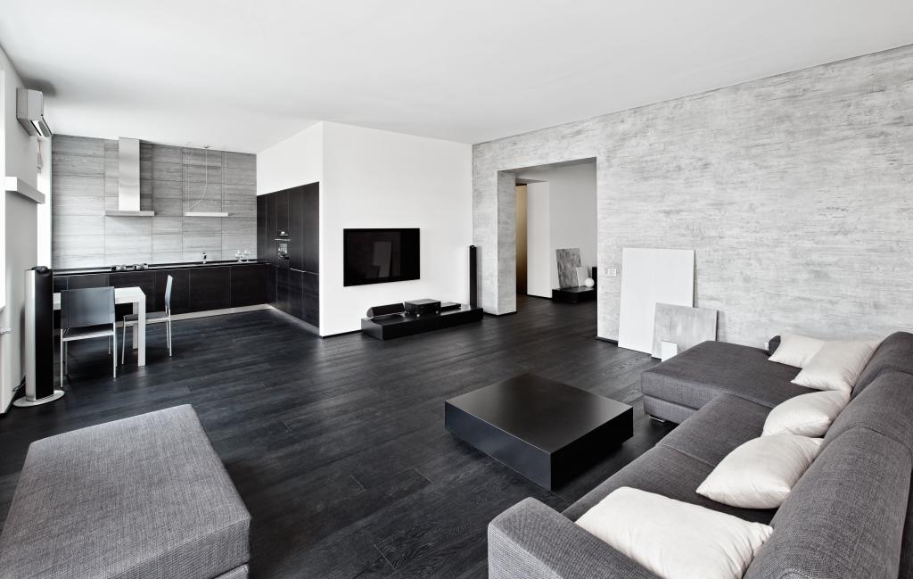 interieur donkere vloer