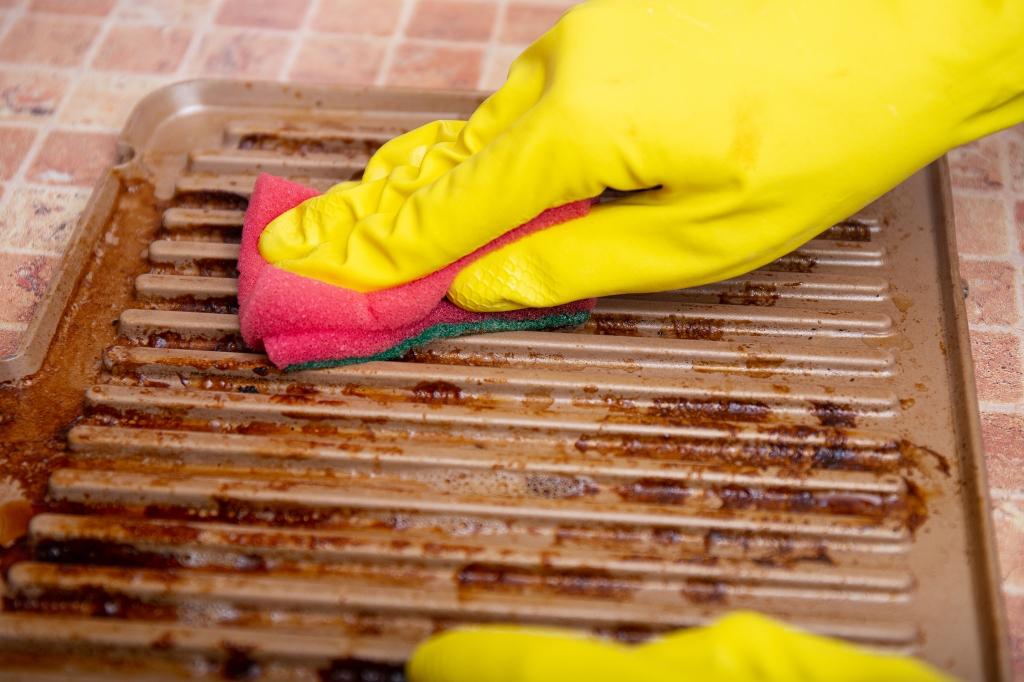 gietijzer rooster schoonmaken